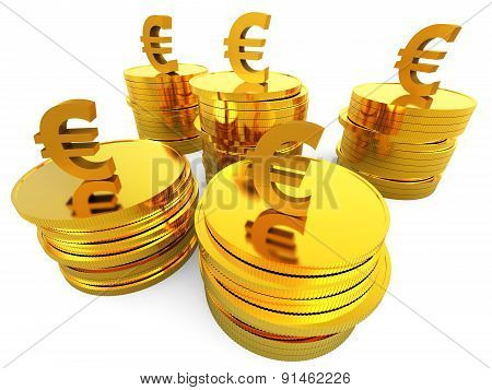 Euro Cash Indicates Invest Growth And European