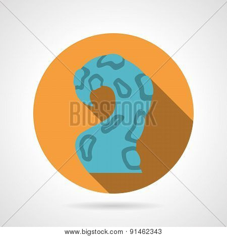 One tentacle color vector icon