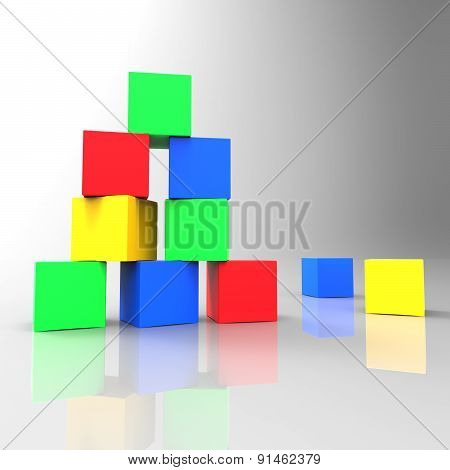 Kids Blocks Shows Toddlers Colour And Children
