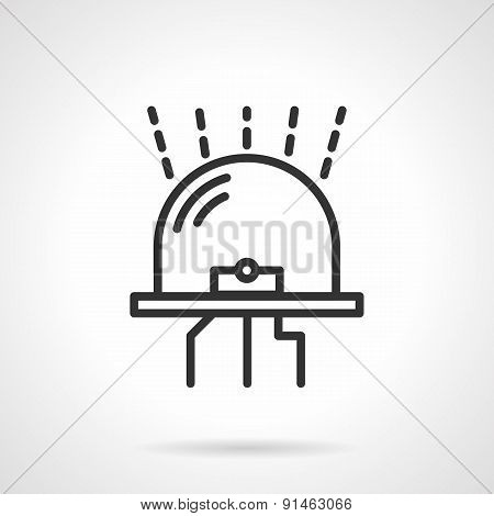 Glowing diode black vector icon