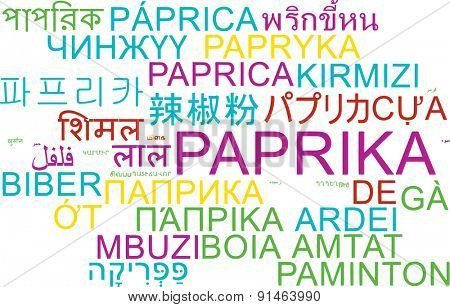 Background concept wordcloud multilanguage international many language illustration of paprika
