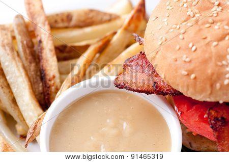 Clubhouse Sandwich On A Burger Bun