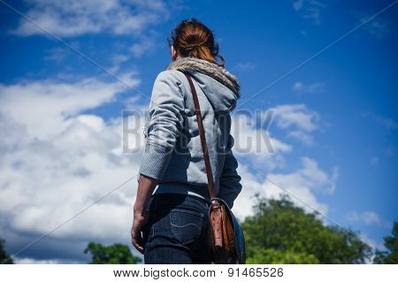 Young Woman Standing Outside