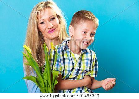 Boy Celebrating Mother's Day