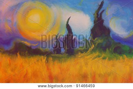Blazing fields