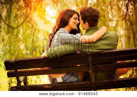 Kisses On A Park Bench