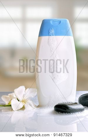 Body Care And Beauty Product With Foam Vertical Composition