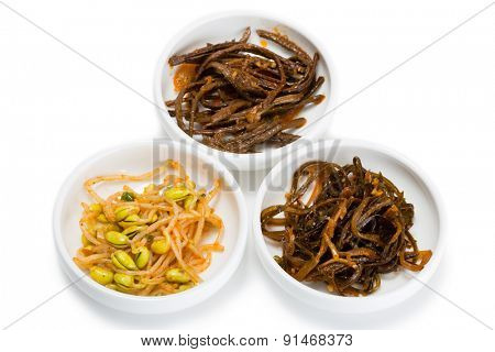Spicy salads heh of seaweed, sprouts of fern and beans sprouts. From a series of Food Korean cuisine.