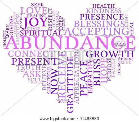 Abundance Heart Shaped Word Cloud