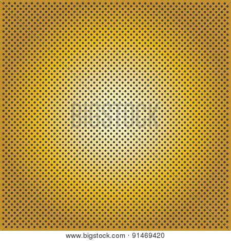 High resolution concept conceptual yellow golden metal stainless steel aluminum perforated pattern texture mesh background
