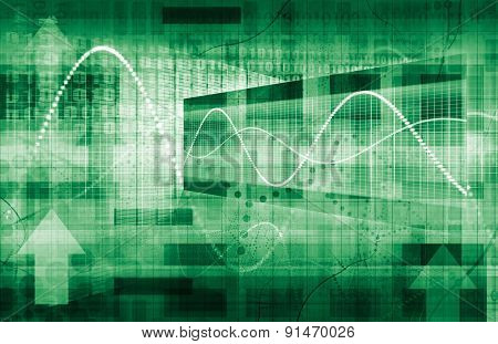 Futuristic Graph and Chart Data for Business