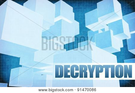 Decryption on Futuristic Abstract for Presentation Slide
