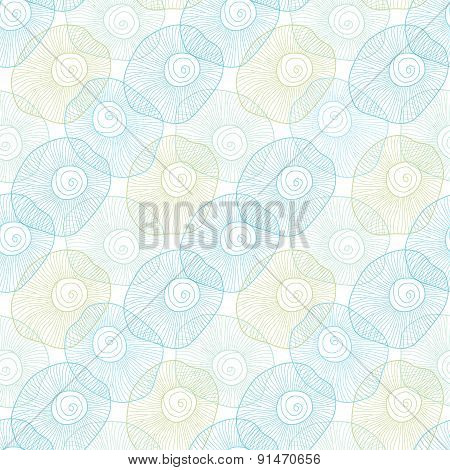 Vector abstract bubbles seamless pattern