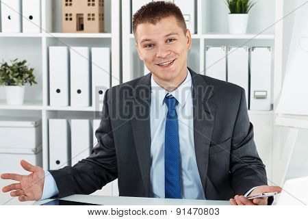 Joyful Business Man