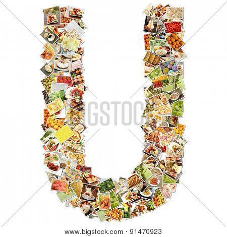 Letter U Uppercase Font Shape Alphabet Collage