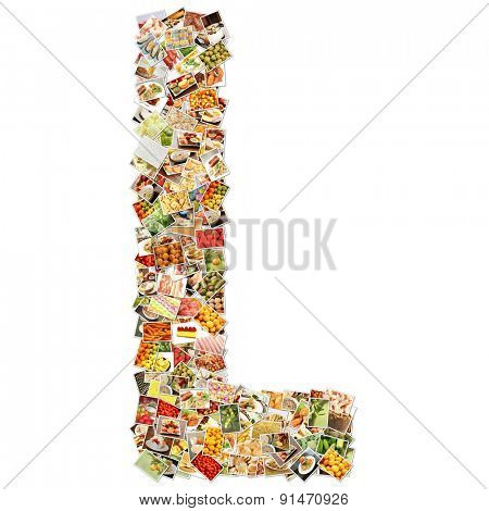 Letter L Uppercase Font Shape Alphabet Collage