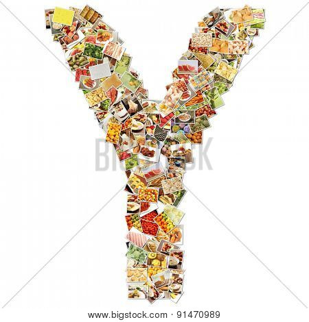 Letter Y Uppercase Font Shape Alphabet Collage