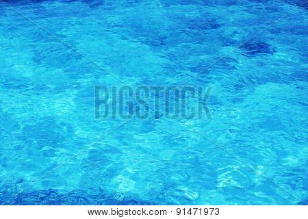 Beautiful view of ocean water on island in resort
