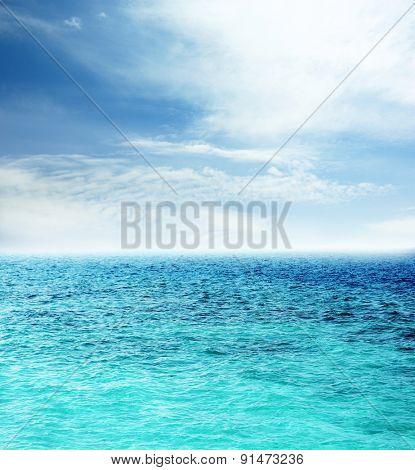 Ocean water and blue sky