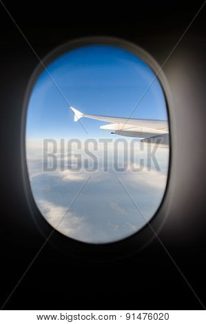 aerial view from jet aircraft