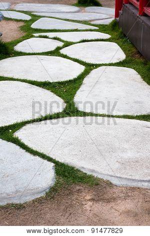 natural stone walking way