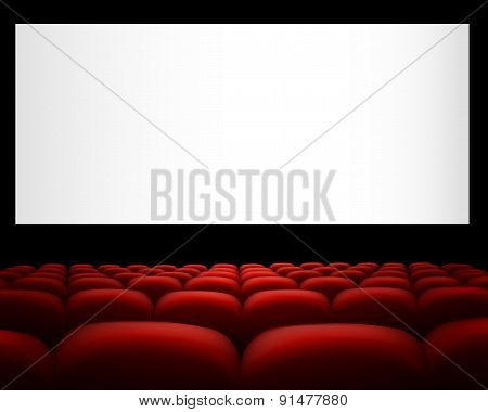 Cinema with red upholstery