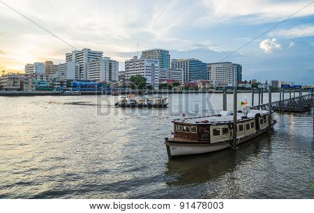 Siriraj hospital, Chao Phaya river in Bangkok