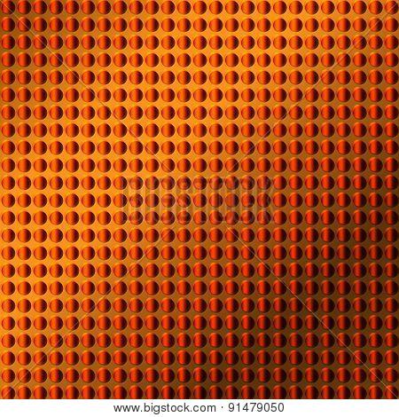 Orange Embossing Metallic Background