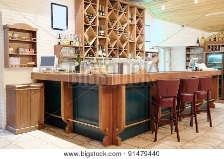 Interior with the image of bar counter