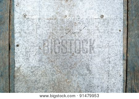 Scratched metal surface