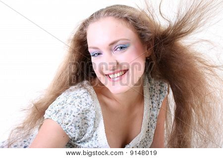 Girl With Long Windy Hair