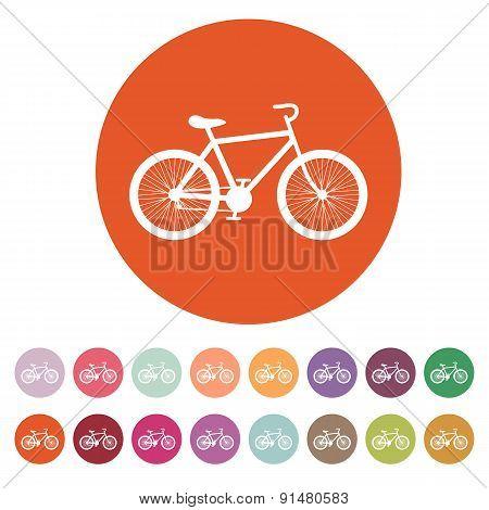 The Bicycle Icon. Bike Symbol. Flat