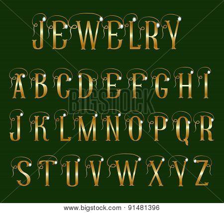 Font jewelry