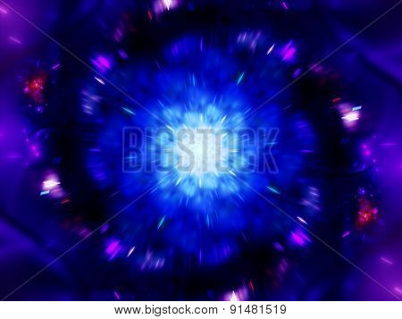 Magical Zoomed Mandala In Space