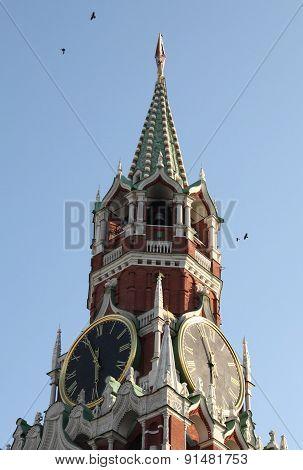 Kremlin Tower On Sky Background