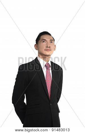 Asian Man Looking Up