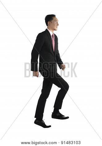 Business Man Step Up