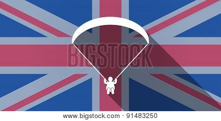 United Kingdom Flag Icon With A Paraglider