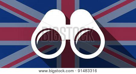 United Kingdom Flag Icon With A Binoculars