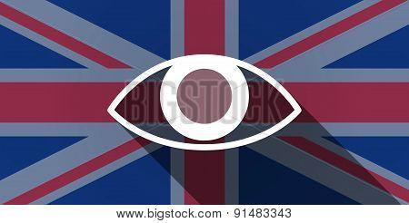 United Kingdom Flag Icon With An Eye
