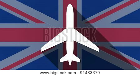 United Kingdom Flag Icon With A Plane