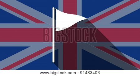 United Kingdom Flag Icon With A Golf Flag