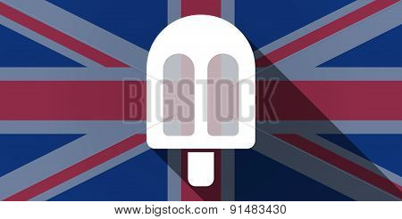United Kingdom Flag Icon With An Ice Cream