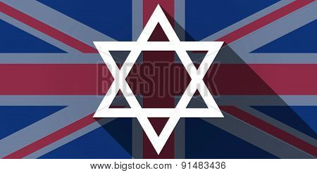 United Kingdom Flag Icon With A David Star