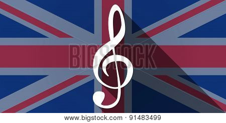 United Kingdom Flag Icon With A G Clef
