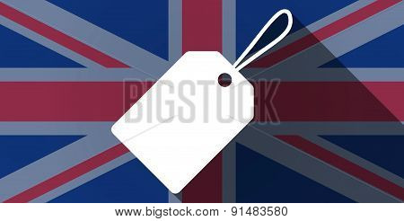 United Kingdom Flag Icon With A Product Label