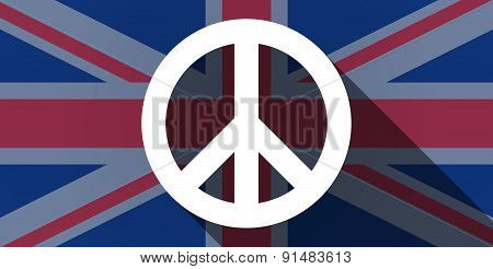United Kingdom Flag Icon With A Peace Sign