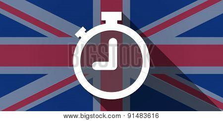 United Kingdom Flag Icon With A Timer