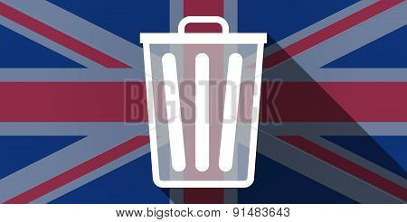 United Kingdom Flag Icon With A Trash Can