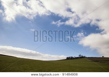 Beautiful Bright Landscape Image Of Peak District On Sunny Spring Day